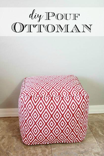DIY Pouf Ottoman