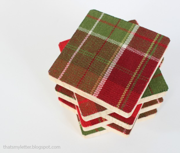 fabric & wood coasters 2