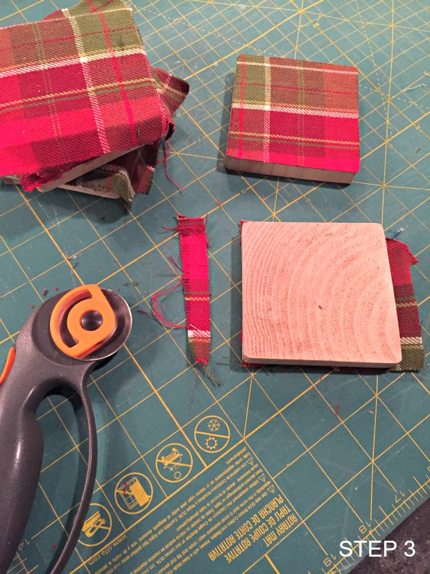 fabric & wood coasters step 3