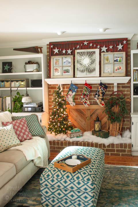 Holiday Home Tour 2015 - Living Room | Pretty Handy Girl