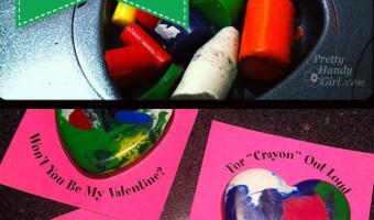 Skip the candy with these DIY melted crayon valentines from Pretty Handy Girl! | DIY Valentine's Day gifts #holidaygifts #prettyhandygirl