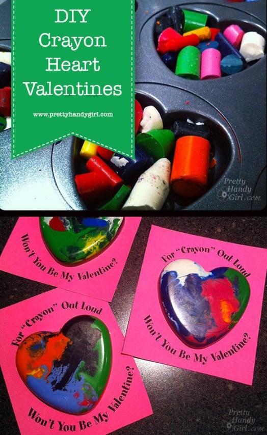 Hagyja el a cukorkát ezekkel a DIY olvasztott zsírkréta Valentinokkal a Pretty Handy Girl-től!  |  Barkácsolás Valentin-napi ajándékok # ünnepi ajándékok # szép kézilány