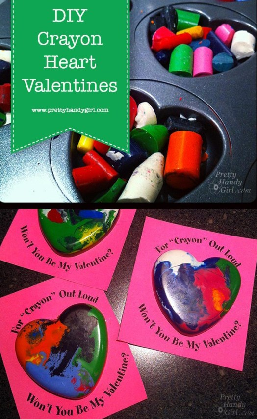 Hagyja el a cukorkát ezekkel a DIY olvasztott zsírkréta Valentinokkal a Pretty Handy Girl-től!  |  Barkács Valentin napi ajándékok # ünnepi ajándékok # szép kézilány