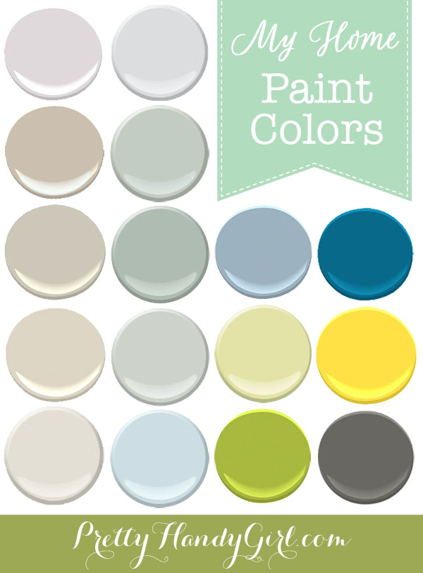 Paint Colors In My Home Pretty Handy Girl