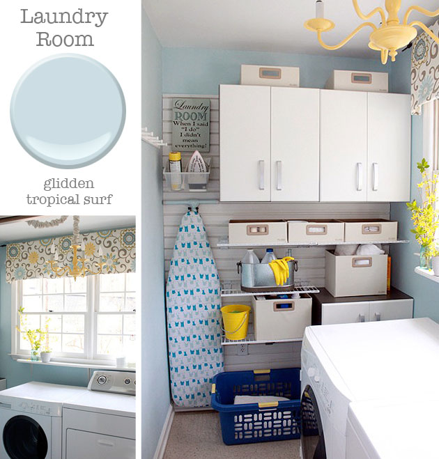 Laundry Room - Glidden Tropical Surf | Pretty Handy Girl