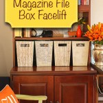 Magazine File Box Facelift | Pretty Handy Girl