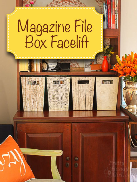 Magazine File Box Facelift | Pretty Handy Girl