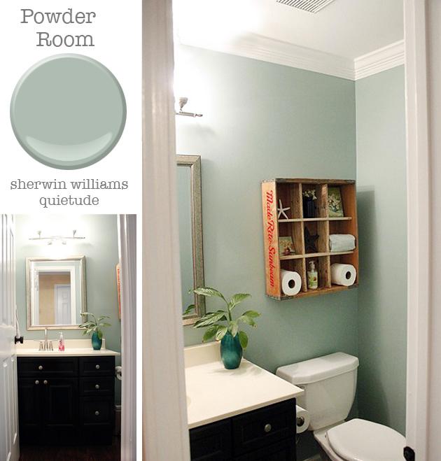 Powder Room: Sherwin Williams Quietude | Pretty Handy Girl