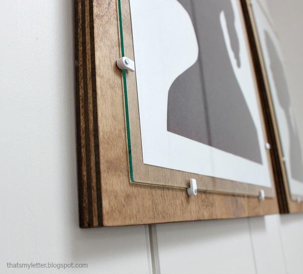 diy plywood frame with glass pretty