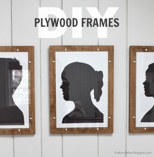 Simple Plywood Frames