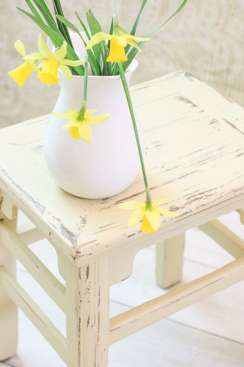 Chalk Painted Wooden Stool | Pretty Handy Girl