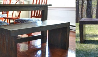 DIY Indoor/Outdoor Dining Bench | Pretty Handy Girl