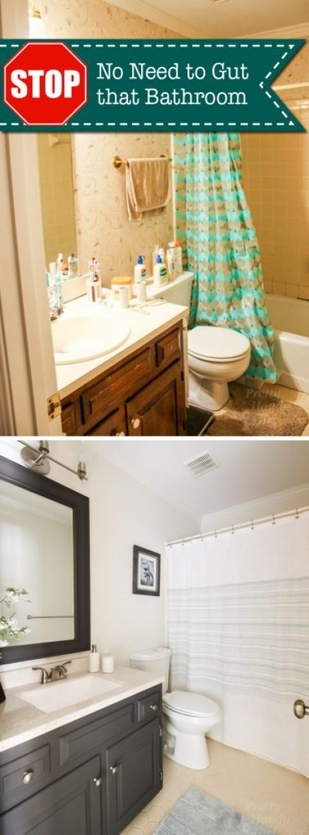 STOP! You Don't Have to Gut Your Dated Bathroom   Pretty Handy Girl