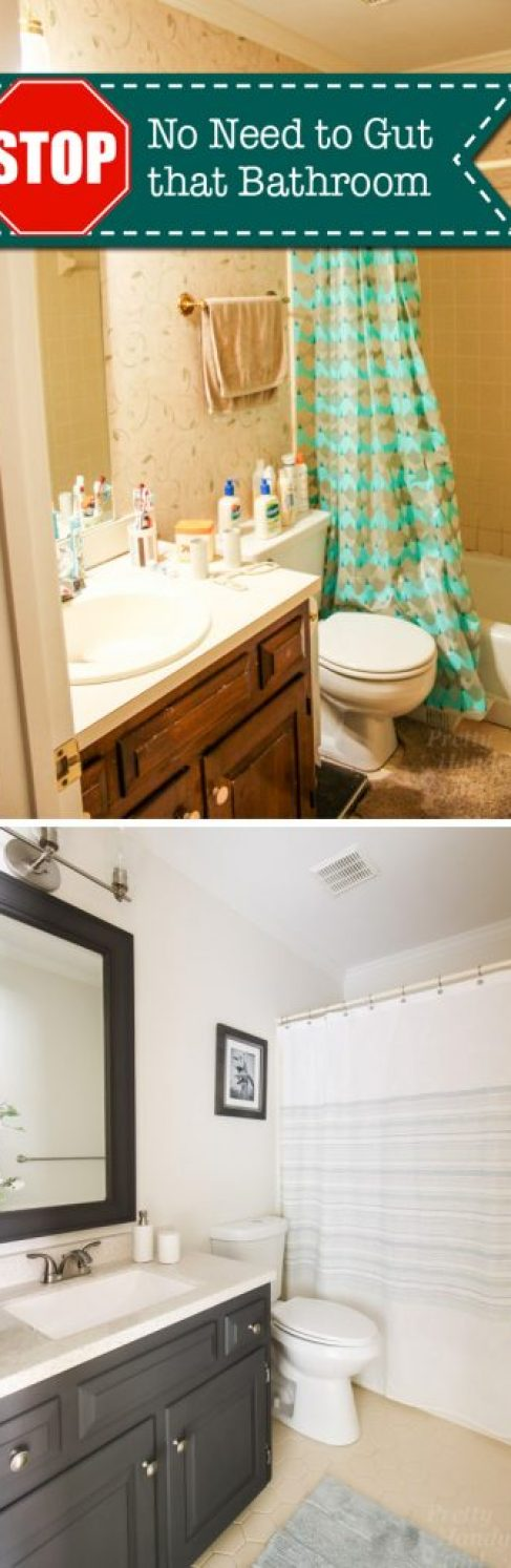 STOP! You Don't Have to Gut Your Dated Bathroom | Pretty Handy Girl