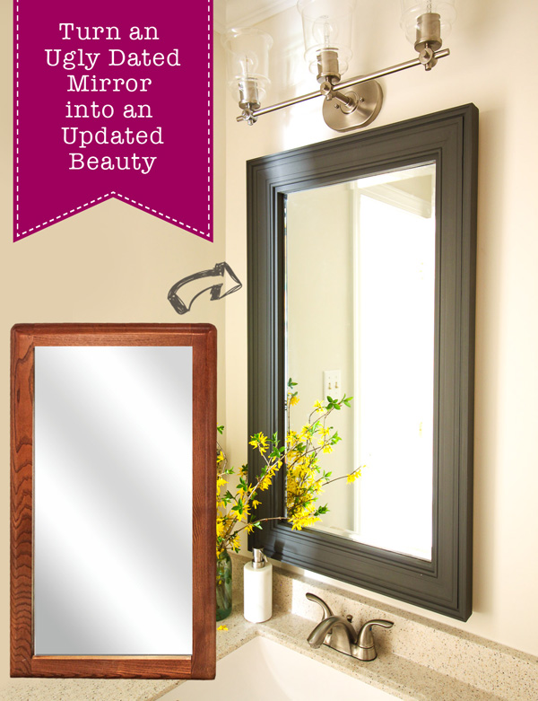 How To Frame A Dated Mirror Pretty Handy Girl