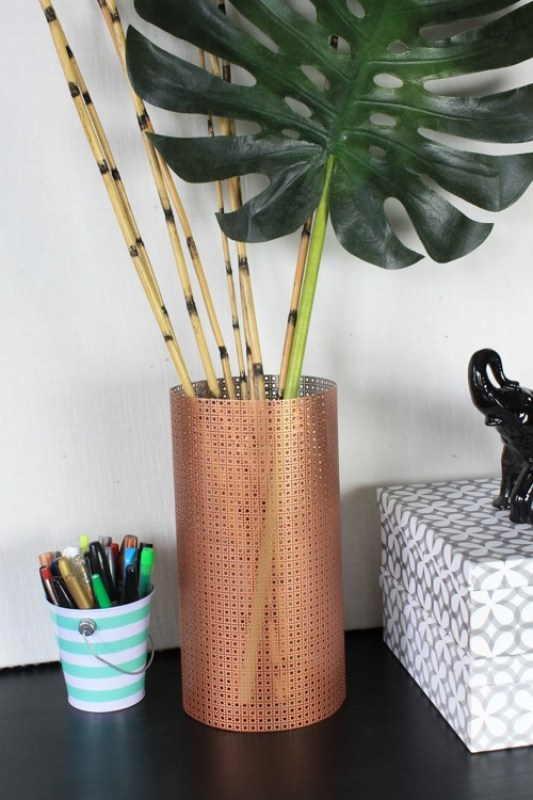 DIY aluminum sheet metal vase