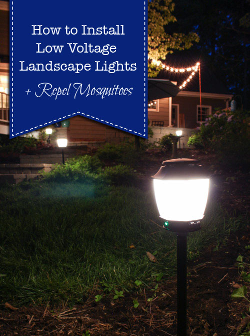 How To Install Landscape Lights And Repel Mosquitoes Pretty Handy Girl