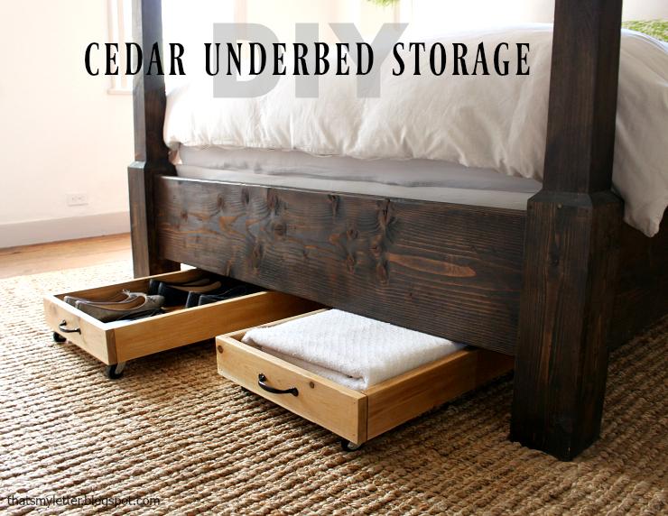 cedar underbed storage
