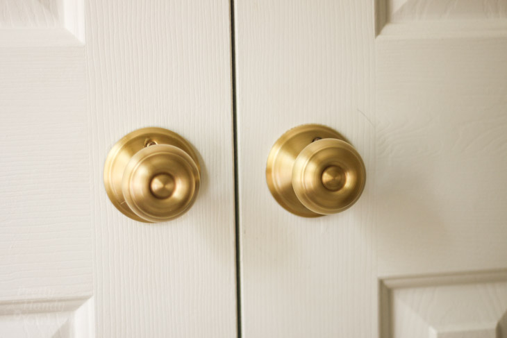How To Replace Door Knobs And Deadbolts Pretty Handy Girl