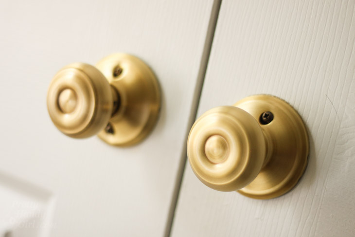 How to Replace Door Knobs and Deadbolts | Pretty Handy Girl