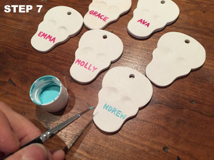 clay skull place cards step 7