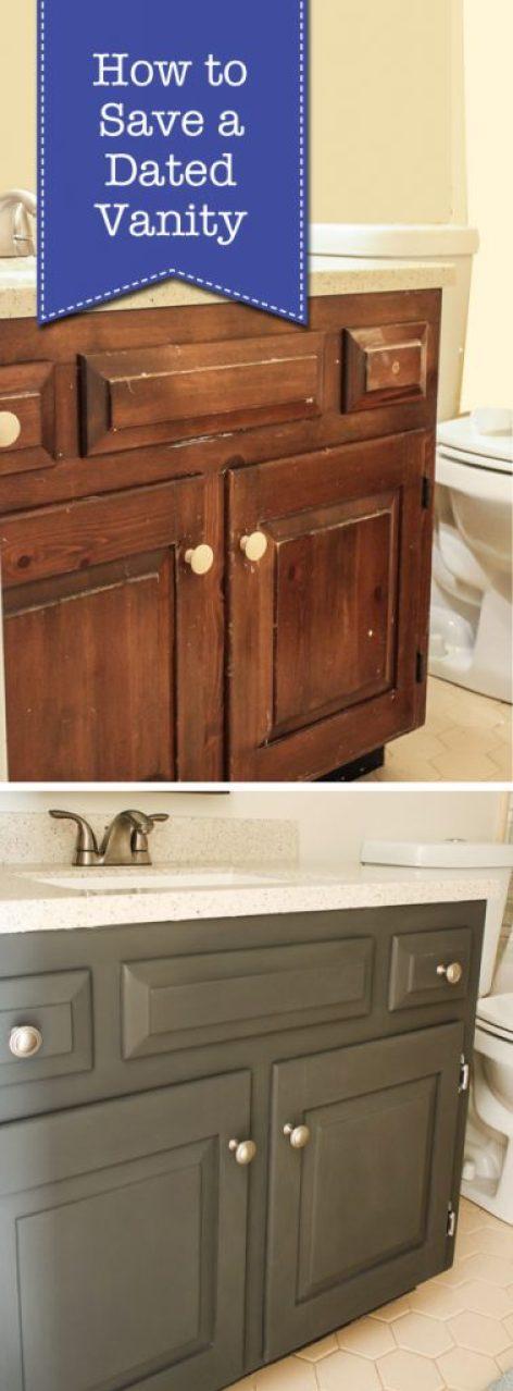How to Save a Dated Vanity | Pretty Handy Girl