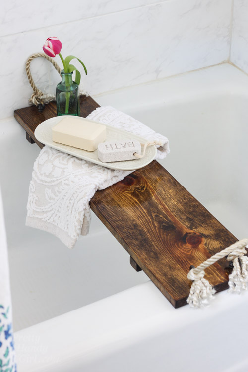 Rustic Wood Bathtub Tray Pretty Handy Girl