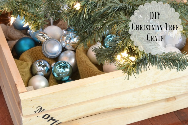 This quick and easy DIY Christmas tree crate is just what you need to update your decor this year.