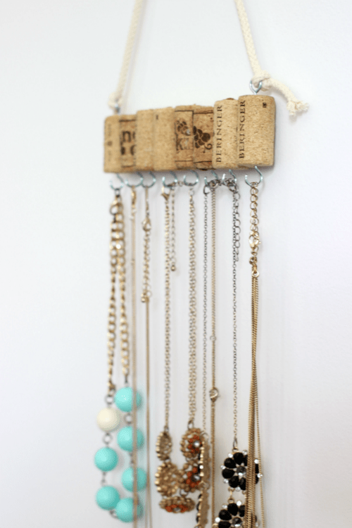 DIY Cork Jewelry Holder