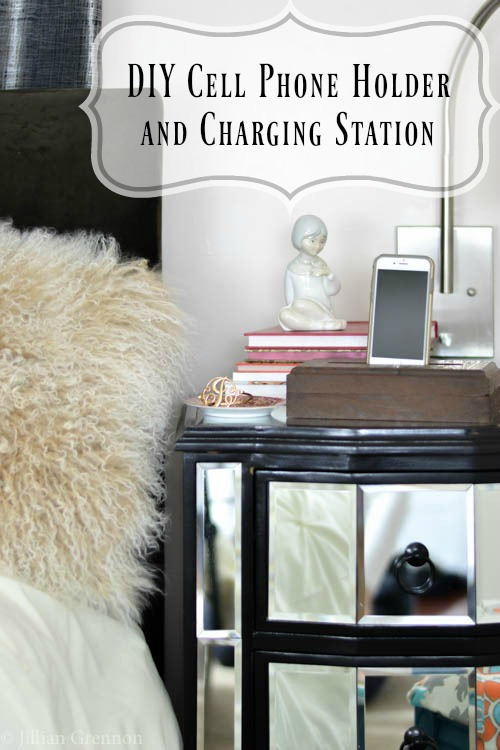 Diy Cell Phone Holder And Charging Station Pretty Handy Girl