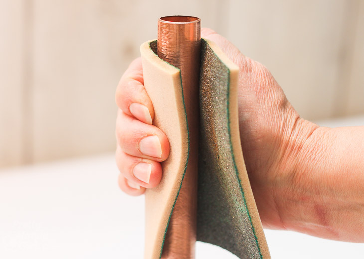sand-copper-pipes