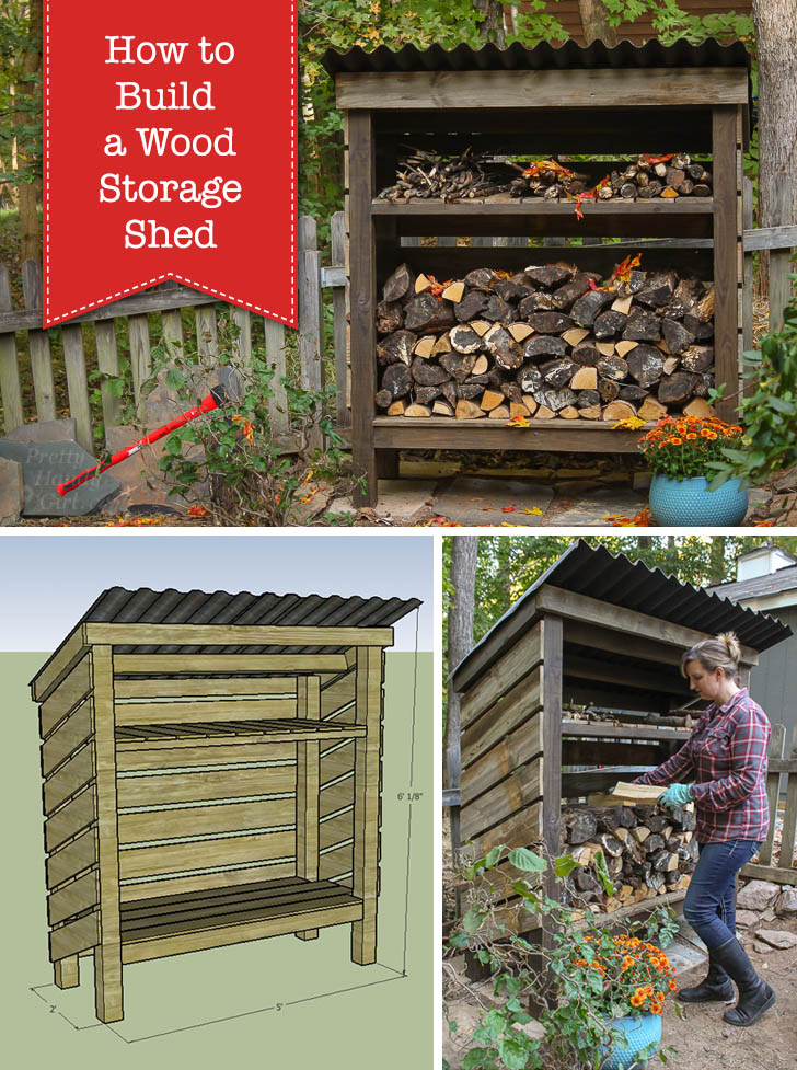 Do It Yourself Home Design: How To Build A Wood Storage Shed