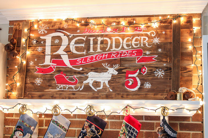 How to Build Vintage Rustic Sleigh Ride Sign
