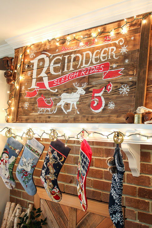 How to Make a Vintage Rustic Sleigh Ride Sign by Pretty Handy Girl