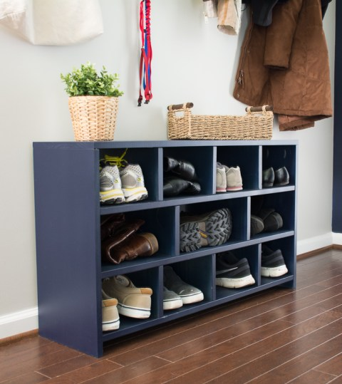 DIY shoe cubby build plans