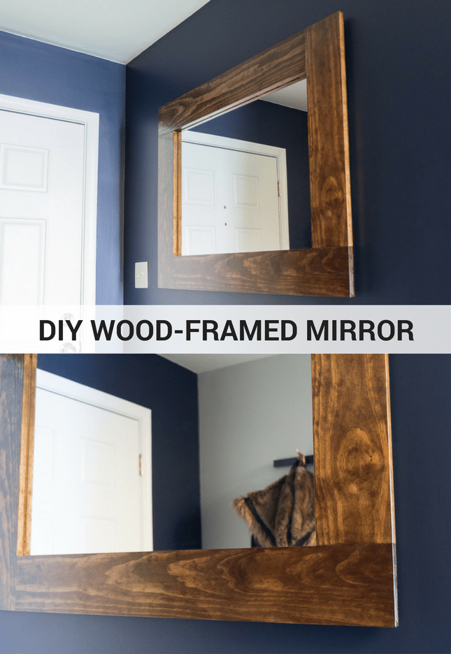 Diy Wood Framed Mirror Tutorial