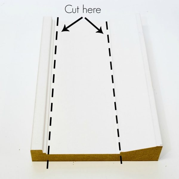 Cut the trim for your candle lantern into separate parts.