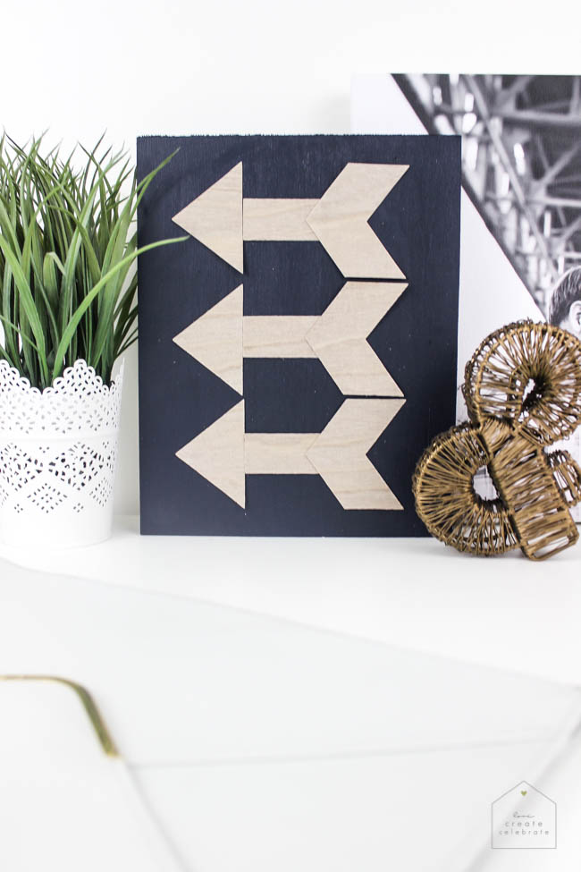 Wooden Arrow Decor - Love Create Celebrate