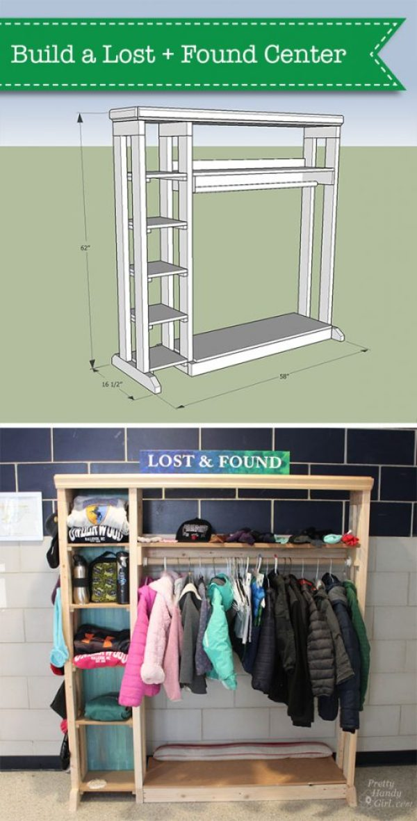 Plans to Build a School Lost & Found Center | Pretty Handy Girl