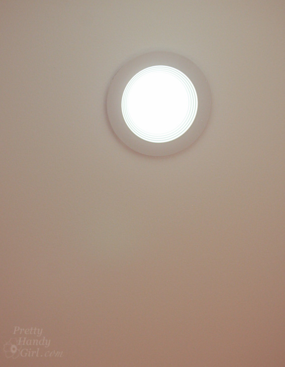 Add Energy Efficient LED Fixtures in Recessed Can Lights | Pretty Handy Girl