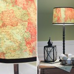 Vintage Map Lampshade | Pretty Handy Girl