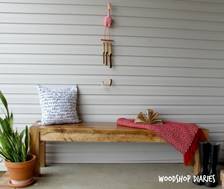 How To Build A Modern Farmhouse Bench Pretty Handy Girl