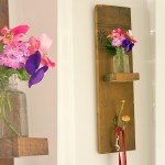Reclaimed Wood Wall Hook & Vase