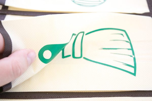 The iron-on vinyl is more flexible than it looks!