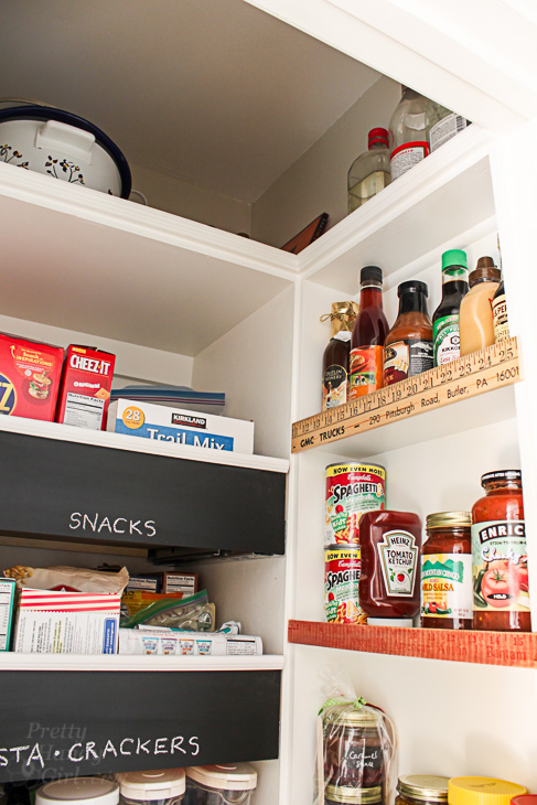 Make Your Own Chalkboard Front Drawers   Organized Pantry   Pretty Handy Girl
