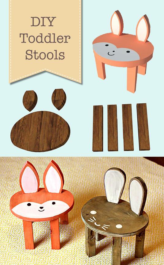 Cute DIY Animal Toddler Stools | Pretty Handy Girl