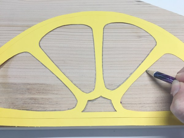 Trade the segments onto the scrap of wood.