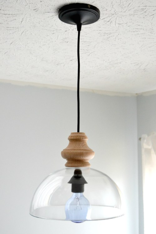 Glass Bowl Fixture - Best Lighting DIYs - Pretty Handy Girl
