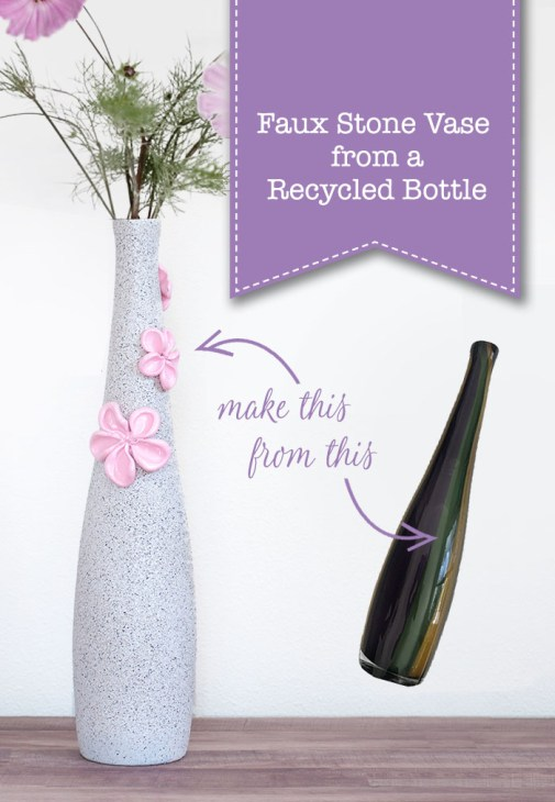 Make a Faux Stone Vase from a Recycled Bottle | Pretty Handy Girl