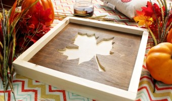 DIY Scrap Wood Fall Sign